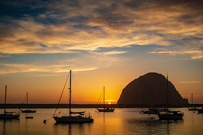 Morro Bay as the sun is setting...