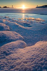 Frosty Harbor Sunrise