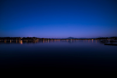 blue hour reflections