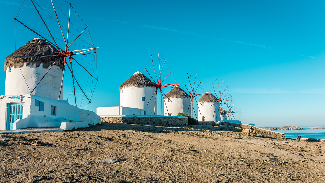 Mykonos Morning Windmills