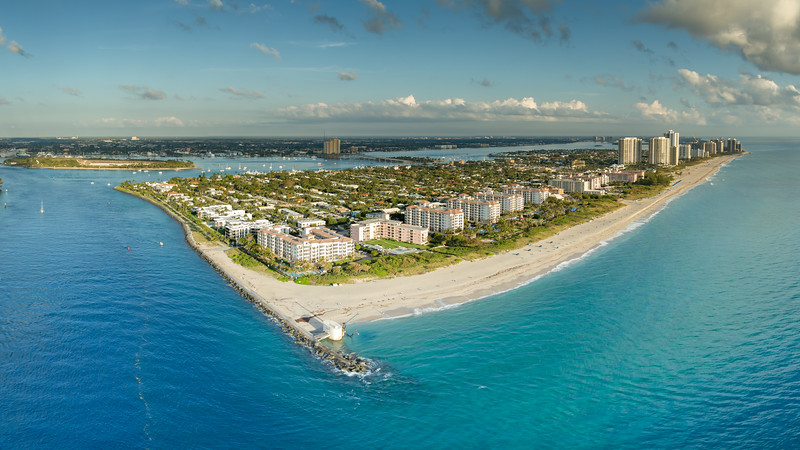 Singer Island Panorama with Peanut Island in background