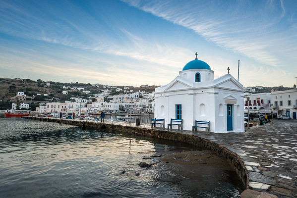 Mykonos Dawn Harbor Church