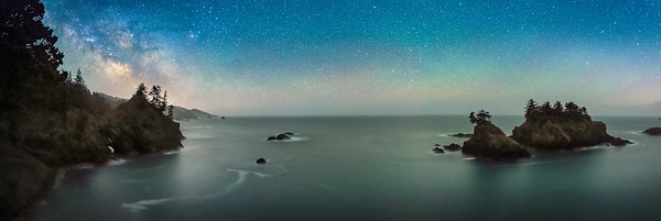 Thunder Cove, Night Panorama, Brookings, OR