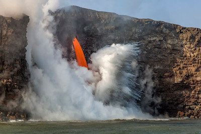 Fire hose lava flow from Hawaii's Kilauea Volcano, Volcanoes National Park, Hawaii