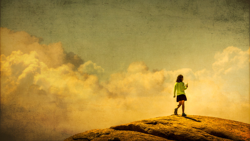 Little Girl on the Top of the World