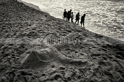 B13:Lord Jagannath lies as a sand art on the beach in Puri,Odissa