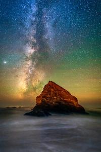 St Orres Monolith & Milky Way, Gualala, CA