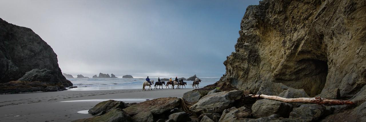 Horseback Riding on Bandon Beach