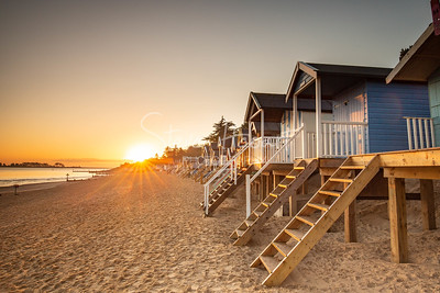 Sunrise at the Beach Huts