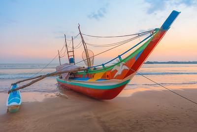 Traditional Fishing Catamaran, Sri Lanka