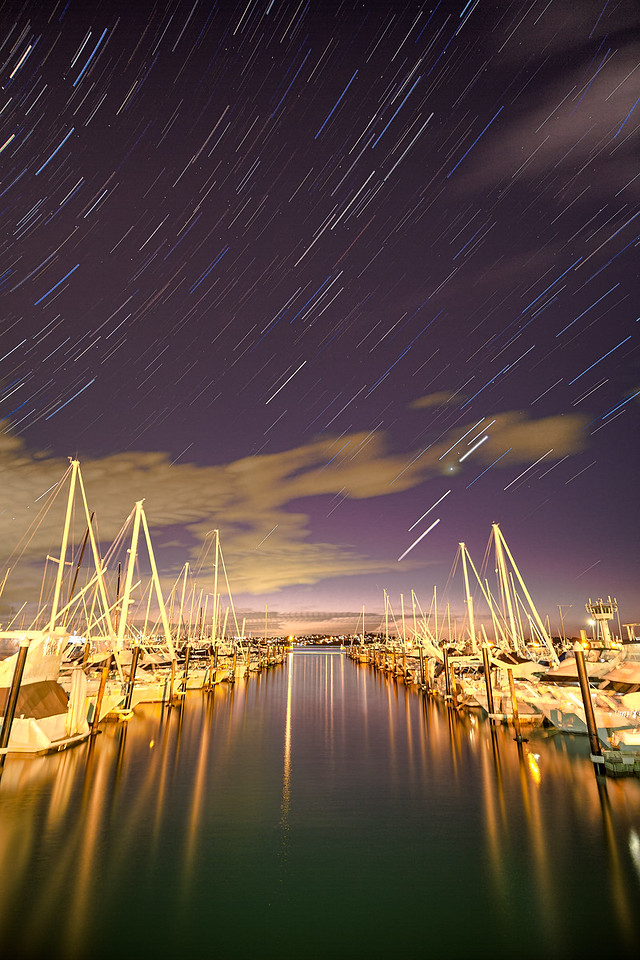 Star Trails at the Marina