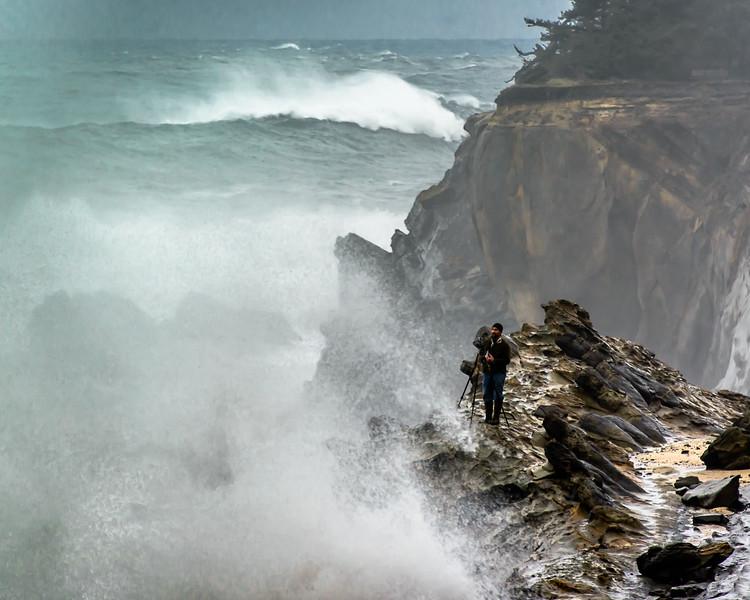 Crashing Waves, Crazy Photographer