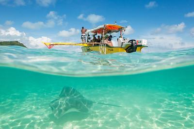 Boating around, French Polynesia