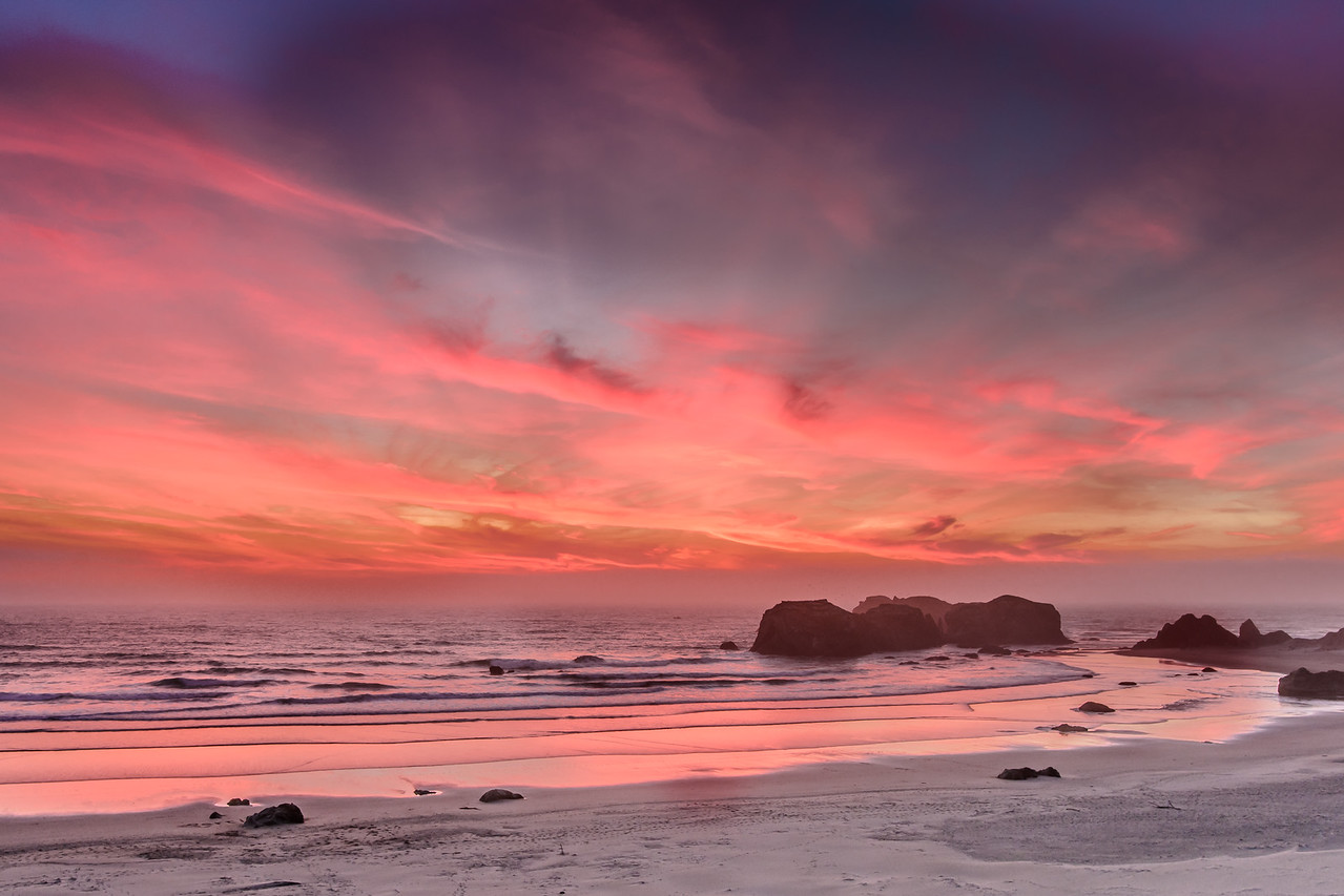 Amazing Sunset, Bandon Beach
