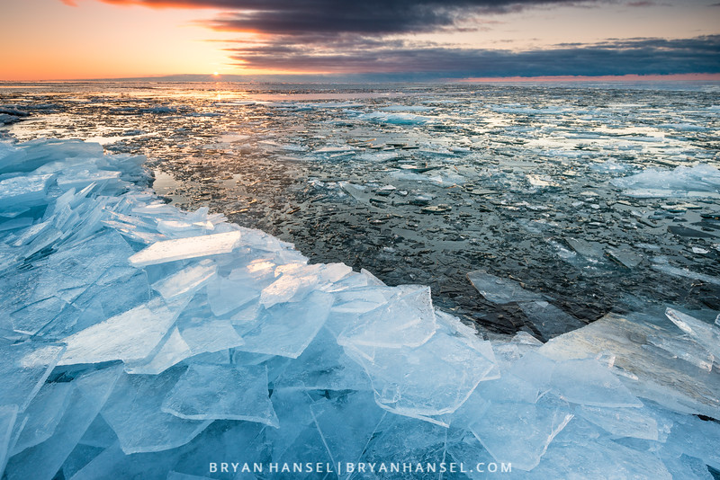 Ice Plates at Sunrise