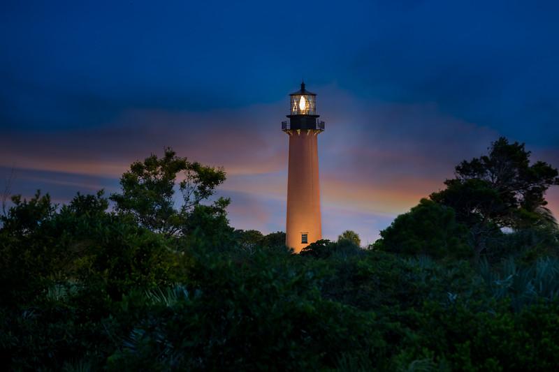 Jupiter Lighthouse at Sunset