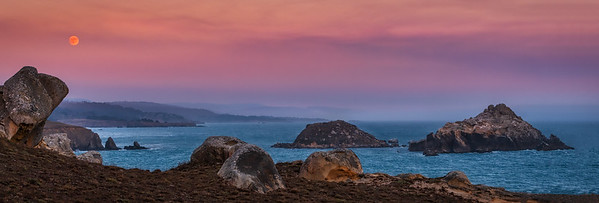 Moonrise, Havens Neck, Gualala, California