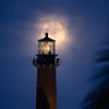 Jupiter Lighthouse full moon