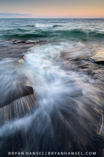 Lake Superior Waves and Basalt