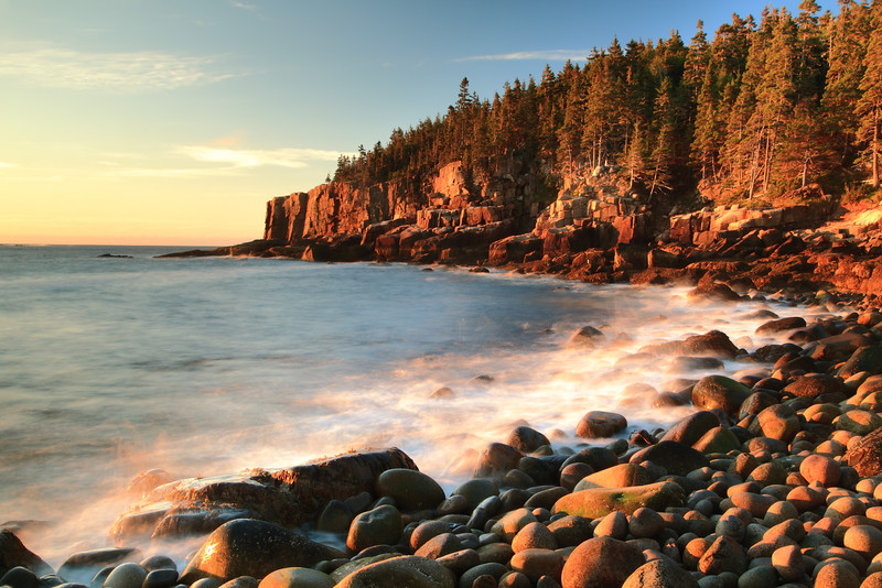 Boulder Beach Seascape, Acadia National Park