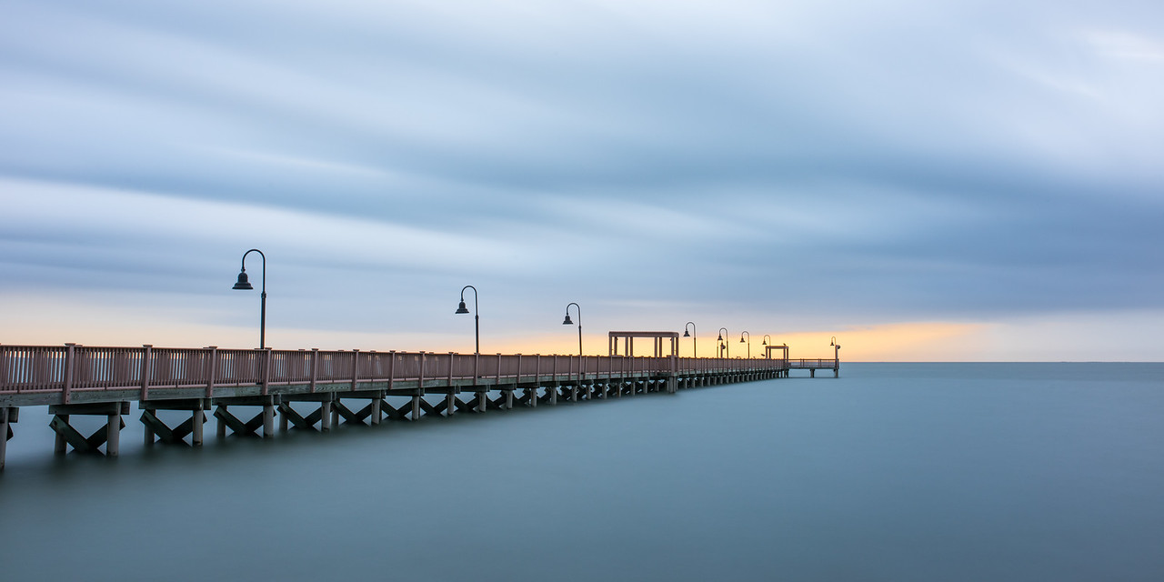 Rockport Pier Before the Storm