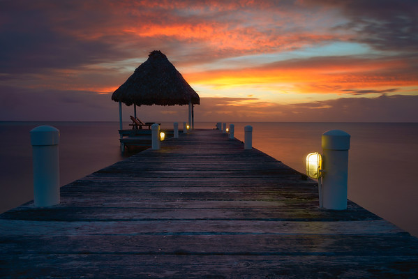 Belize Sunrise Dock