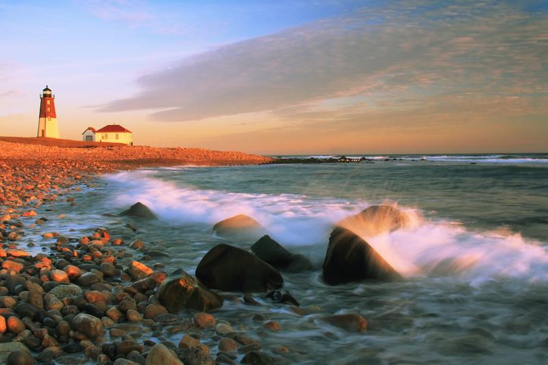 Point Judith Lighthouse Seascape