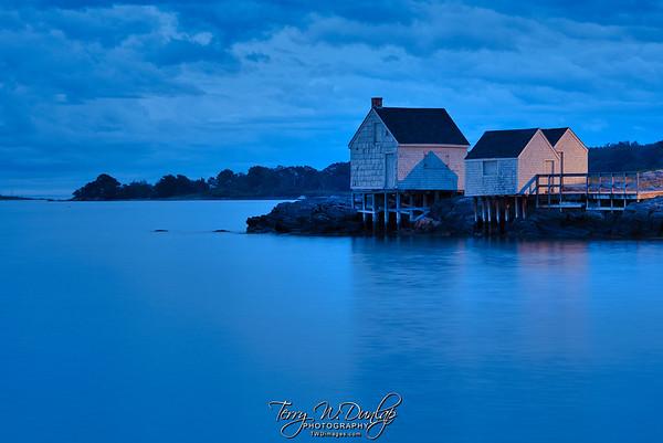 Blue Hour Fishing Shacks