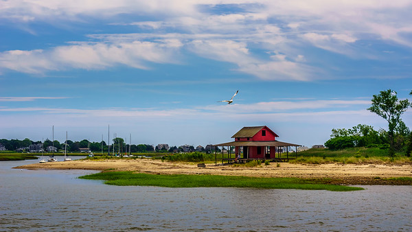Red Cottage Seascape