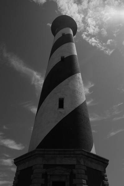 """""""Cape Hatteras Lighthouse Black and White"""" #13"""