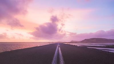Purple. Southern Iceland