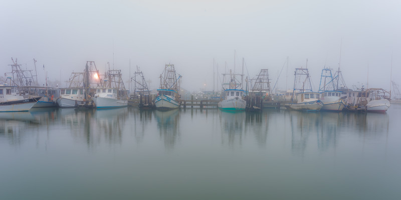 Foggy Easter Boats