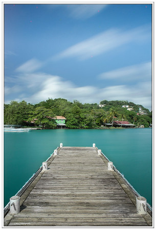Pier in to the Green , Caribbean