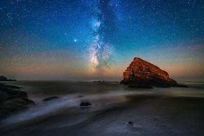 St Orres Nighttide & Milky Way, Gualala, CA