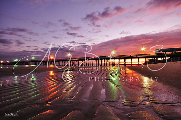 Sunrise and Low Tide Meet at the Lynnhaven Fishing Pier, Virginia Beach, Virginia