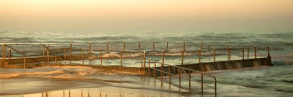 Mona Vale Ocean Pool - Gold Dawn, Sydney, Australia