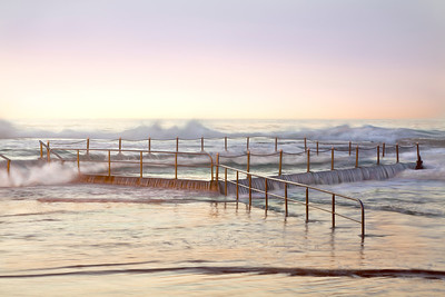 Mona Vale Ocean Pool Wave Wash, Sydney, Australia