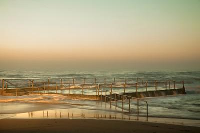 Mona Vale Ocean Pool 2 - Gold Dawn, Sydney, Australia