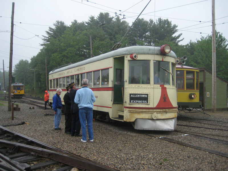 Liberty Bell Limited, Lehigh Valley car 1030 makes a special appearance for a retired LVT motorman.