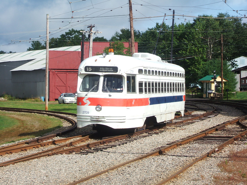 SEPTA PCC 2709 pulling out of Riverside Yard for its days operation