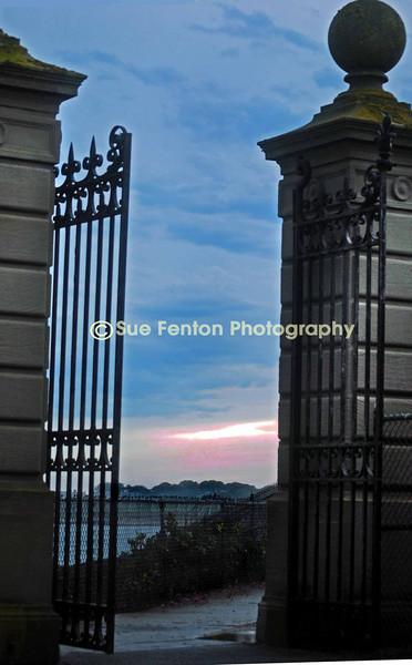 A gate along the Cliff Walk in Newport, RI.
