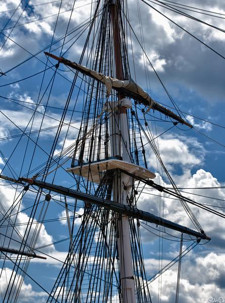 Old Ironside Masts