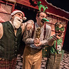 Justin Walvoord, Casey Andree, and Brian Kusic in BETC's production of Every Christmas Story Ever Told (and then some!). Photo: Michael Ensminger.