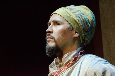 Sam Gilstrap stars in BETC's production of Guards at the Taj by Rajiv Joseph (photography: Michael Ensminger)