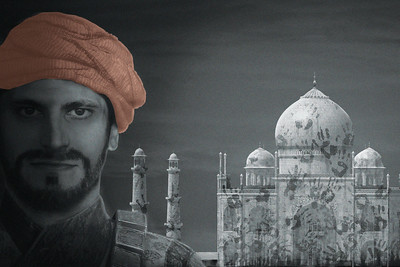Jihad Milhem stars in Guards at the Taj by Rajiv Joseph, directed by Stephen Weitz. Photography by Michael Ensminger, graphics illustration by Brian Kolodziejski and Fresh Ideas Group.