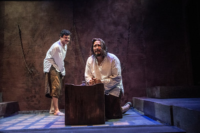Jihad Milhem and Sam Gilstrap star in BETC's production of Guards at the Taj by Rajiv Joseph (photography: Michael Ensminger)