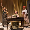Maire Higgins, Jada Suzanne Dixon, and Rebecca Remaly in The Revolutionists by Lauren Gunderson (photo: Michael Ensminger)