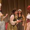 Adrian Egolf, Rebecca Remaly, Maire Higgins, and Jada Suzanne Dixon in The Revolutionists by Lauren Gunderson (photo: Michael Ensminger)