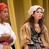 Jada Suzanne Dixon and Maire Higgins in The Revolutionists by Lauren Gunderson (photo: Michael Ensminger)