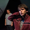 Michael Morgan (background) and Alex Rosenthal in BETC's production of THE CURIOUS INCIDENT OF THE DOG IN THE NIGHT-TIME (photography: Michael Ensminger)